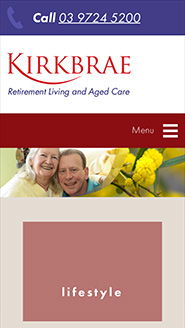 Kirkbrae Presbyterian Homes Smart Phone Web Design