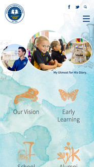Maranatha Christian College Smart Phone Web Design