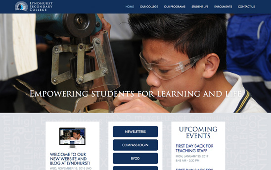 Lyndhurst Secondary College - Desktop Web Design